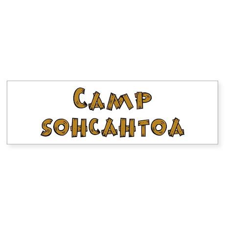 Camp Sohcahtoa Trigonometry Sticker (Bumper)