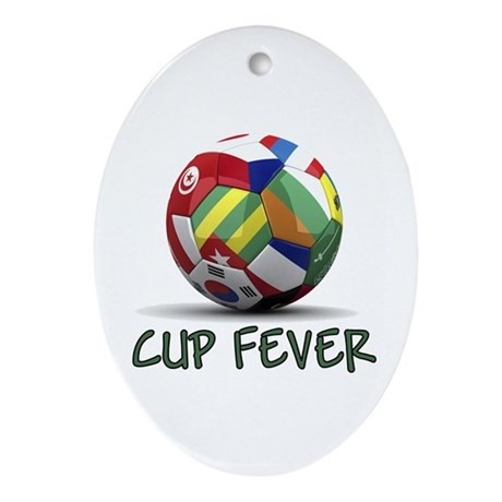 World Cup Fever Ornament (Oval)