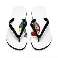World Cup Fever Flip Flops
