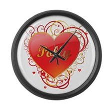 Polly Valentines Large Wall Clock