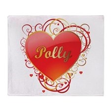 Polly Valentines Throw Blanket