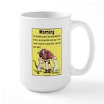 Ferret Warning Large Mug