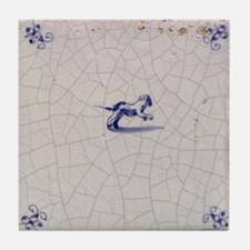 Leaping Dog Tile: Tile Coaster