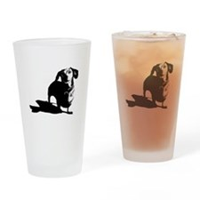 daschund sketch Drinking Glass