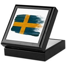 Sweden Flag Keepsake Box