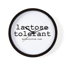 """""""lactose tolerant"""" Wall Clock"""