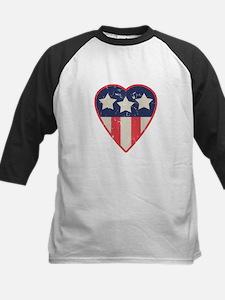 Simple Patriotic Heart Tee