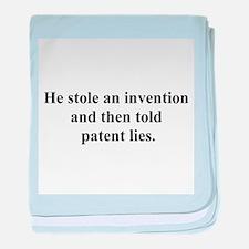 patent lies baby blanket