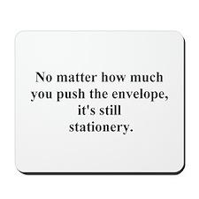 push the envelope Mousepad