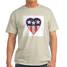 Simple Patriotic Heart T-Shirt