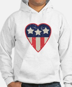 Simple Patriotic Heart Jumper Hoody