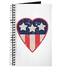 Simple Patriotic Heart Journal