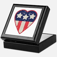 Simple Patriotic Heart Keepsake Box