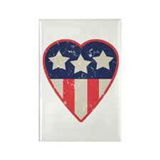 Simple Patriotic Heart Rectangle Magnet