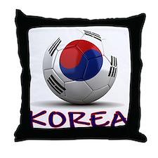 Team South Korea Throw Pillow