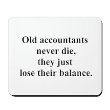 old accountants Mousepad