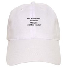 old accountants Baseball Cap