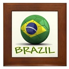 Team Brazil Framed Tile