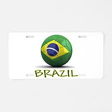 Team Brazil Aluminum License Plate