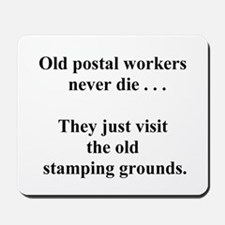 stamping grounds Mousepad