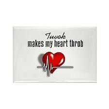 Tuvok makes my heart throb Rectangle Magnet