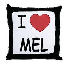 I heart mel Throw Pillow