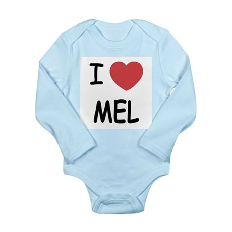 I heart mel Long Sleeve Infant Bodysuit