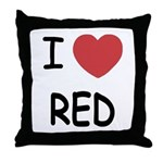 I heart red Throw Pillow