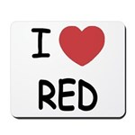 I heart red Mousepad