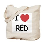 I heart red Tote Bag
