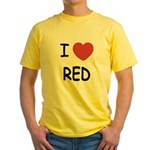 I heart red Yellow T-Shirt