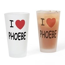 I heart phoebe Drinking Glass