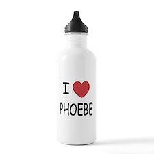 I heart phoebe Water Bottle