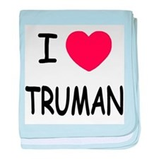 I heart truman baby blanket