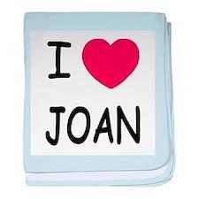 I heart joan baby blanket