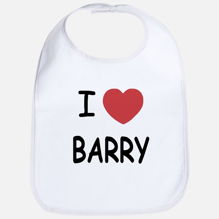 I heart barry Bib