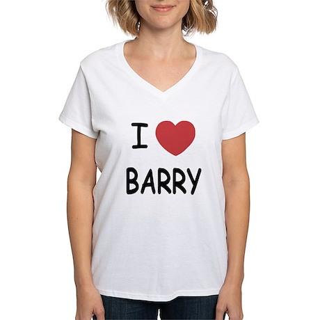 I heart barry Women's V-Neck T-Shirt