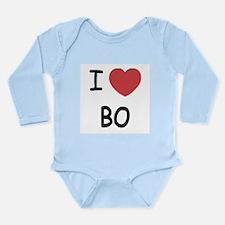 I heart bo Long Sleeve Infant Bodysuit