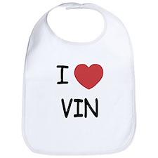 I heart vin Bib