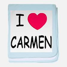 I heart carmen baby blanket