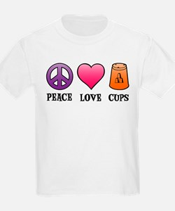 Peace,Love,Cups T-Shirt