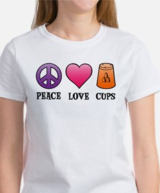 Peace,Love,Cups Women's T-Shirt