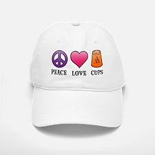 Peace,Love,Cups Baseball Baseball Cap