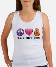 Peace,Love,Cups Women's Tank Top