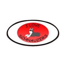 I Love Schnauzers Patches