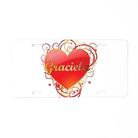 Graciela Valentines Aluminum License Plate
