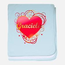 Graciela Valentines baby blanket