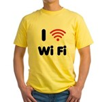 I Love Wi Fi Yellow T-Shirt