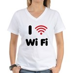 I Love Wi Fi Women's V-Neck T-Shirt