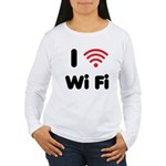 I Love Wi Fi Women's Long Sleeve T-Shirt